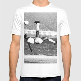 Pele In The Air With Brazil T-shirt