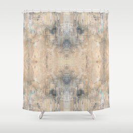 Glitch Vintage Rug Abstract Shower Curtain