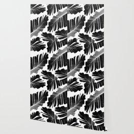 Tropical Black Banana Leaves Dream #1 #decor #art #society6 Wallpaper