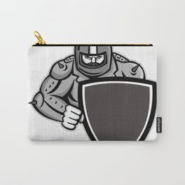 Motorcycle Biker With Shield Mascot Carry-All Pouch
