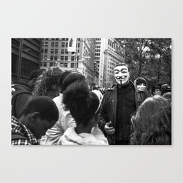 Occupy Wall St. Canvas Print