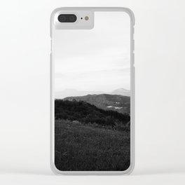landscape near labin croatia bw Clear iPhone Case
