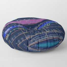Library Card 3503 Exploring the Moon Negative Floor Pillow