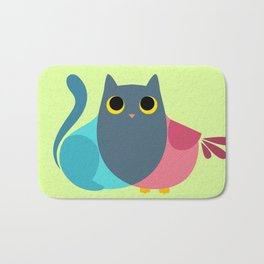 Owlcat Venn Diagram Bath Mat