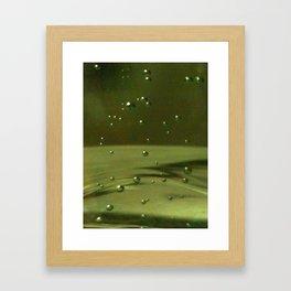 Khaki Bubbles Framed Art Print