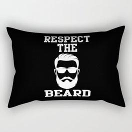 Beard Respect For The Beard Men's Beard Rectangular Pillow