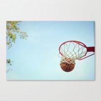 basketball Canvas Prints featuring Basketball by KimberosePhotography