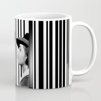 casablanca Mugs featuring Inside a Barcode. by Luigi Tarini