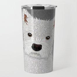 Cute West Highland Terrier Portrait Travel Mug