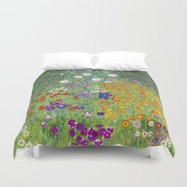 Flower Garden - Gustav Klimt Duvet Cover