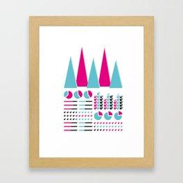 Infographic Selection Framed Art Print