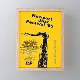 Vintage 1965 Newport, R.I Jazz Festival Advertisement Poster Framed Mini Art Print