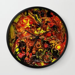 Abstract art on canvas Wall Clock