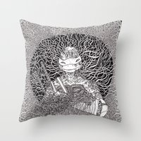 ninja turtle Throw Pillows featuring Ninja Turtle by OKAINA IMAGE