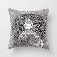 ninja turtle Throw Pillows featuring Ninja Turtle by OKAINA IMAGE