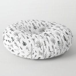 Tree Pattern Floor Pillow