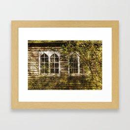 Overgrown Windows Framed Art Print