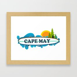 Cape May - New Jersey. Framed Art Print