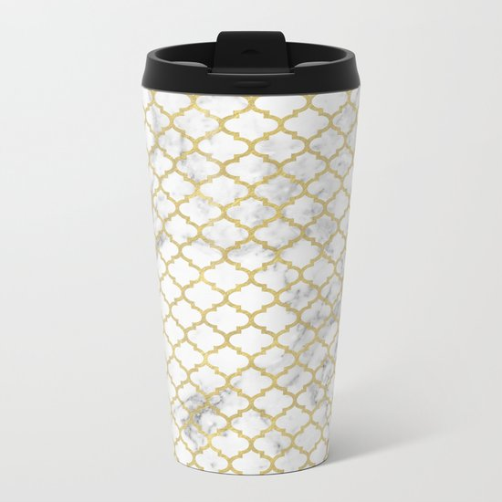 Moroccan marble Metal Travel Mug