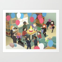 Happy birthday steve Art Print