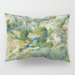 """Auguste Renoir """"Rocky Crags at L'Estaque"""" Pillow Sham"""