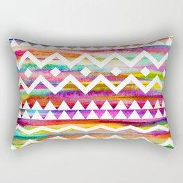 Aztek watercolor pattern Rectangular Pillow