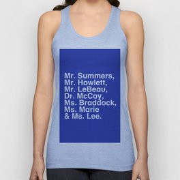 Tribute 4 - X-Men (Blue team) Unisex Tank Top
