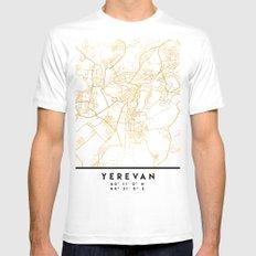 YEREVAN ARMENIA CITY STREET MAP ART MEDIUM Mens Fitted Tee White
