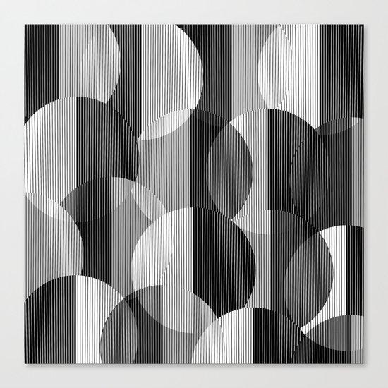 circles lines Canvas Print