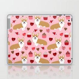 Corgi cupcakes valentines day cute love hearts dog breed corgi crew welsh corgis gifts Laptop & iPad Skin