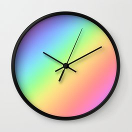 Rainbow Cute Gradient  Wall Clock