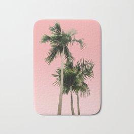 Palm Trees on Pink Wall Bath Mat