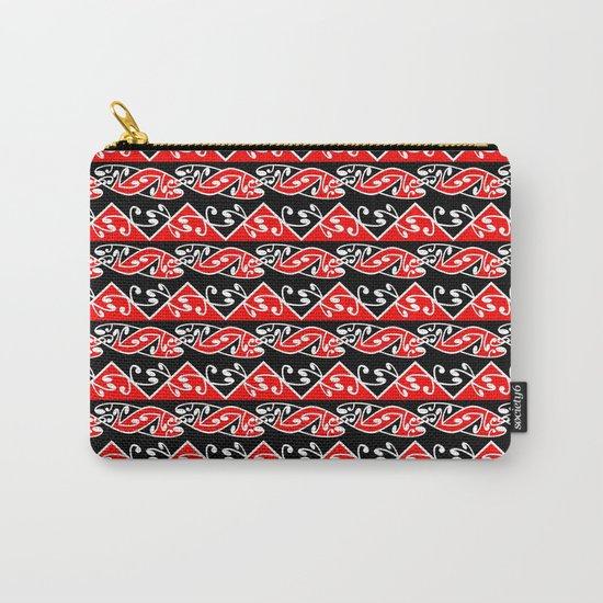 Kowhaiwhai Traditional Maori Koru Pattern Carry-All Pouch