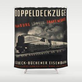Vintage picture - Doppeldeckzuge Shower Curtain