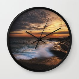 Twilight Surf Wall Clock