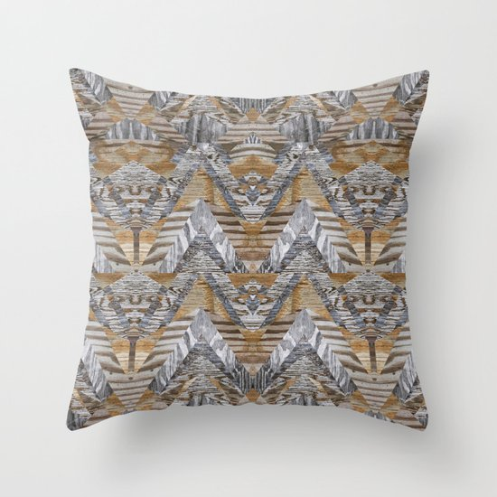 Wood Quilt 2 Throw Pillow