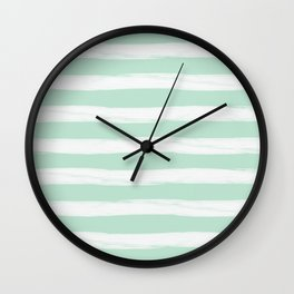 Mint Gross Stripes No.2 Wall Clock