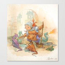 Mamie Dragon - Feeding Time Canvas Print