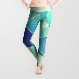 STAINED GLASS WINDOW BLUE Leggings
