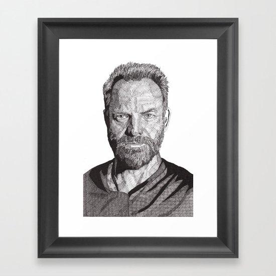 Sting Framed Art Print