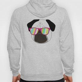 Pug,dog  with sunglasses illustration Hoody