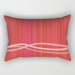 Strawberry Waves Rectangular Pillow