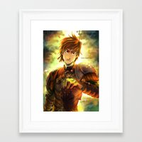 hiccup Framed Art Prints featuring Hiccup by keiden