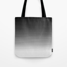 Black and White Haze Abstract Ombre Tote Bag