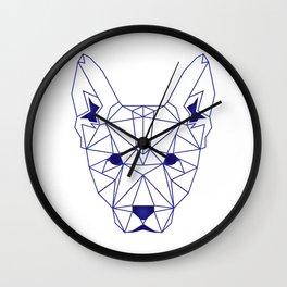 Geometric dog Wall Clock