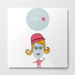Sending you kisses! Metal Print