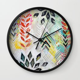 """Holocene"" Original Painting by Flora Bowley Wall Clock"