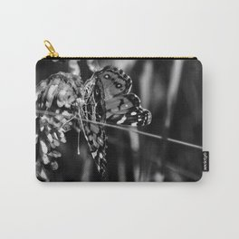 American Lady Butterfly in Black and White Carry-All Pouch