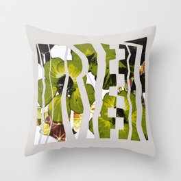 caged garden Throw Pillow