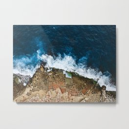 An aerial shot of the Salt Pans in Marsaskala Malta Metal Print